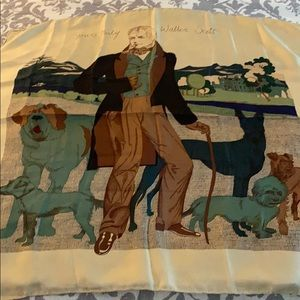 Accessories - Rare Liberty of London Walter Scott w/ Dogs scarf